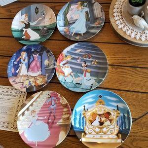 6  Disney Cinderella collector plates ~